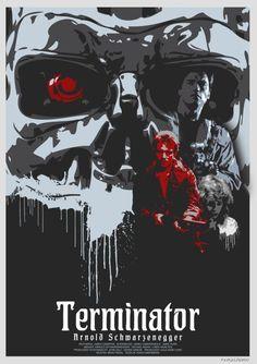 Terminator by P. Terminator 1984, Terminator Movies, Sci Fi Horror, Movie Poster Art, Creature Feature, Dragon Art, Dark Horse, Funny Art, Action Movies