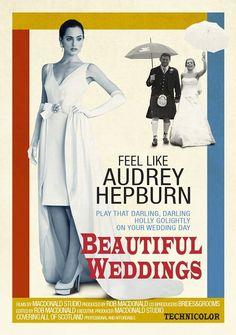 Feel like Audrey Hepburn on your wedding day!!