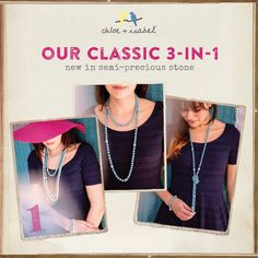 Our Turquoise Convertible Necklace. Wear it anyway You Like.! Love, Shop https://www.chloeandisabel.com/boutique/memedayas