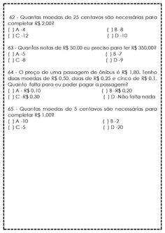 Atividades de Matemática para 5º Ano - Reforço - SÓ ESCOLA Math Equations, Humor, Education, Interactive Activities, Teaching Math, Secondary School, Reading Assessment, Math Questions, Cognitive Activities