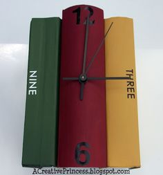 Upcycle: Time for a good Book (Clock) ..