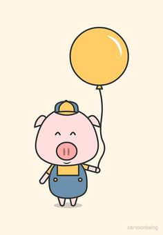 Little Piggy Art Print by Cartoon Being - X-Small