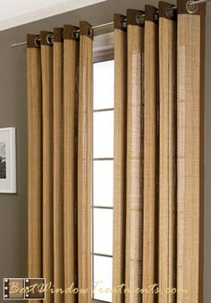 Plait Bamboo Curtain Panel Available In 3 Colors