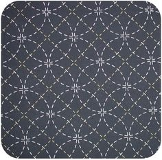Preprinted sashiko fabric (but keep pattern)