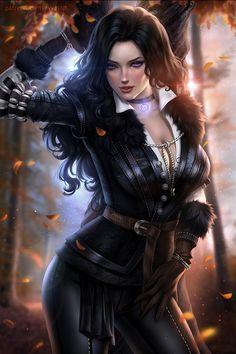 Comunidad Steam: The Witcher Wild Hunt. Fantasy Art Women, Beautiful Fantasy Art, Dark Fantasy Art, Fantasy Girl, Fantasy Female Warrior, Warrior Girl, Female Art, The Witcher Game, Witcher Art