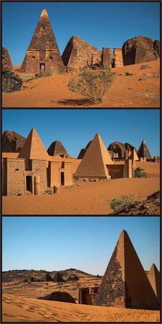 Pyramids of the Kushite rulers at Meroë, Sudan.