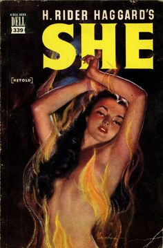 She - H. Rider Haggard. Cover art by Lou Marchetti.
