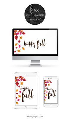 Free Desktop, iPhone and iPad wallpaper for Fall! // helloginger.com
