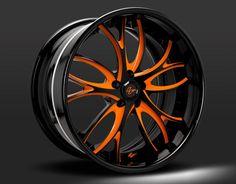 Custom - Orange and Black finish.