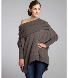 Hickory Cashmere Oversized Cowl Neck Sweater