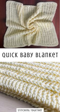 Need a quick baby blanket pattern that works up easily and has lots of texture and squish? You'll love this chunky baby blanket pattern! Just wait until you feel how soft squishy it is. Crochet Pattern PDF by Stitching Together. Crochet Baby Blanket Free Pattern, Baby Afghan Patterns, Crocheted Baby Blankets, Quick Crochet Blanket, Chunky Crochet Blankets, Crochet Patterns Baby, Quick Crochet Gifts, Crochet Stitches For Blankets, Chunky Blanket