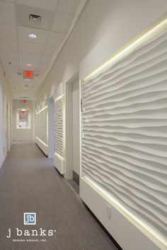 Textured panels at Lux Medical Spa