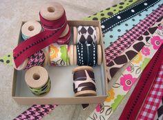a cute way to store fabric scraps