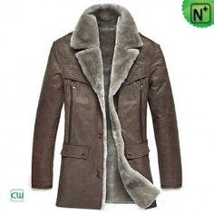 Sheepskin Shearling Fur Coat - m.cwmalls.com