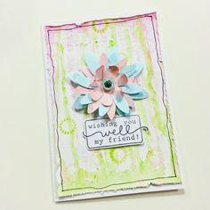 #handmadecard #friendshipcard #friendshipquote #mixedmediacard #watercolors #diycard #paperflowers #wishcard