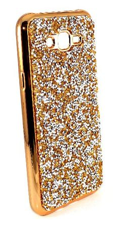 Samsung Galaxy J7 Case - Diamond Textured TPU Lightweight Thin Case  includes Tempered Glass Protector - Gold a87e0d4cf191