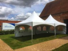 This #Furniture #Friday we think our Chinese Hat Marquees look marvellous at Anne of Cleves Barn in Great Bardfield.  www.alfrescohire.co.uk 01279 870997  #events #wedding #TGIF #eventhire #marquee #weekend