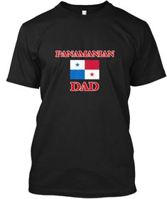 Panamanian Dad Black T-Shirt Front - This is the perfect gift for someone who loves Panama. Thank you for visiting my page (Related terms: Panamanian Dad,I Heart Panama,Panama,Panamanian,Panama Travel,I Love My Country,Panama Flag, Panama  #Panama, #Panamashirts...)