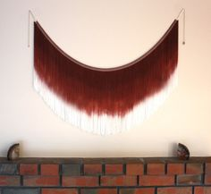 XL Wall Decoration, Ombre Brown Wall Hanging, Men's Decor, Groomsmen Gift,