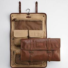 Leather Excursion Travel Case $149.95 Inspired by early 1900s shaving bags, the Leather Excursion Travel Case has a classic style blended with convenience. The brown full-grain leather with light-tan lining gives this a handsome look. Store your toiletries in the five pockets (one of which is a removable case, and one a mess pocket). Roll [...]