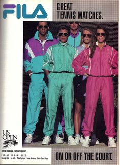 Fila tennis & footwear ad 1989