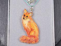 Kette mit Tieranhänger Fuchs // necklace with fox by fraufischersSpielwiese via DaWanda.com