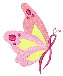 Embroidery Patterns Embroidery Design: Breast Cancer Butterfly 2.83 inches H x 2.24 inches W