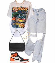 Tomboy Fashion, Teen Fashion Outfits, Retro Outfits, Look Fashion, Indie Outfits, Streetwear Fashion, Swag Outfits For Girls, Cute Swag Outfits, Teenager Outfits