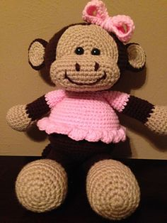 Make It: Monkey - Free Crochet Pattern #crochet #amigurumi #free #ravelry