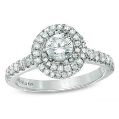 Vera Wang Love diamond swirl engagement ring