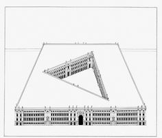 Pablo Bronstein - Large Building With Courtyard - 2006