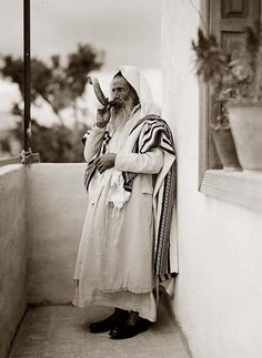 Aboriginal Jew in Jerusalem observing the indigenous Hebrew New Year