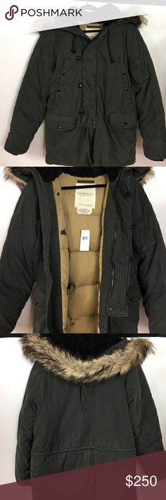 🎆HP🎆🆕RL Denim & Supply>Heavy field jacket This is a heavy duty men's puffy field jacket by Ralph Lauren Denim & Supply. Cotton/nylon shell with faux fur trim. Heavy weight. Zipper and button details. New with tags. Olive color. Good for extremely cold weather. 🍾🎊🎉2/22/17 Winter Wardrobe Party Host Pick by @allthingsgirlee!🎊🍾🎉🎆 Denim & Supply Ralph Lauren Jackets & Coats Military & Field