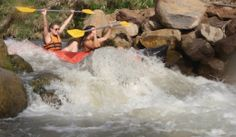 Lots of ways to explore Israel - even by water! All Israelonthehouse Birthright groups go rafting &/or kayaking down the River Jordan. #Sachlav #Taglit www.israelonthehouse.com