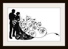Beautiful Modern Wedding Couple Cross Stitch Pattern - Cross Stitch Patterns