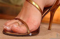 #Cum #Toes #Sandal #Heeljob