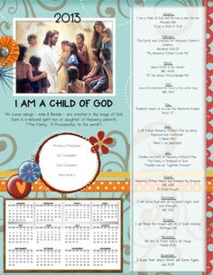 2013 Primary Binder Cover on Sugardoodle. Lds Primary, Primary Lessons, Primary Music, God Themes, Teacher Binder Covers, Lds Church, Church Ideas, Binder Cover Templates, Primary Chorister
