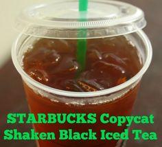 Starbucks copycat shaken black iced tea