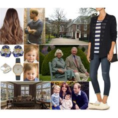 Arriving back at Kensington Palace with the Cambridges and having Charles and Camilla over for afternoon tea and dinner by charlottedebora on Polyvore featuring Autumn Cashmere, Dollhouse, Oscar Heyman, Olivia Burton and Blue Nile