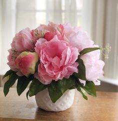 Excited to share this item from my shop: Ready To Ship- Farmhouse Style Floral Arrangement Peony Arrangement, Table Flower Arrangements, Beautiful Flower Arrangements, Floral Centerpieces, Faux Flowers, Silk Flowers, Colorful Flowers, Spring Flowers, Farmhouse Nursery Decor