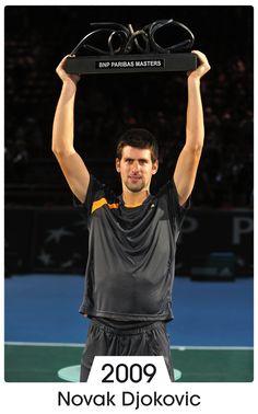 Novak Djokovic, 2009. Copyright FFT - Paris Bercy