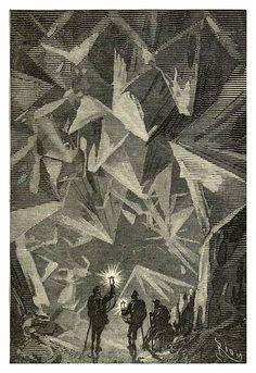 019-La cueva de los diamantes- Viaje al centro de la Tierra-Voyage au centre de la terre-ilustrado por Edouard Riou por ayacata7.