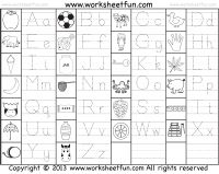 Capital and Small Letter Tracing Worksheet / FREE Printable Worksheets Shape Tracing Worksheets, Printable Preschool Worksheets, Writing Worksheets, Free Alphabet Printables, Preschool Writing, Preschool Learning, Kids Writing, Letter Writing, Teaching