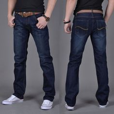 Men's Comfortable Straight Fit Casual Jeans - 3 Styles
