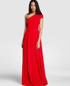 Vestido rojo fiesta el corte ingles vila
