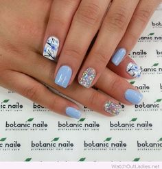 Amazing Spring manicure with nice details