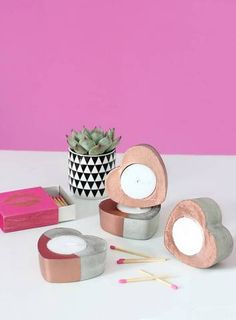 make your own copper heart candles!
