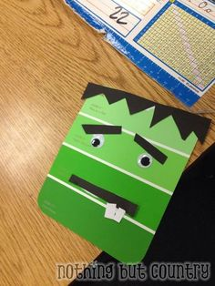 4th Grade Halloween / Fall Party- paint chip magnets