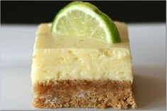 Key Lime Bars - These look yummy. And easier to make than my key lime cheesecake.