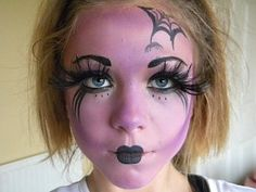 warlock face paint | witch - face painting model | Halloween